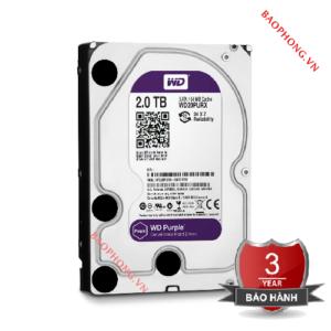 Ổ cứng HDD WD 2TB WD20PURZ (Tím)